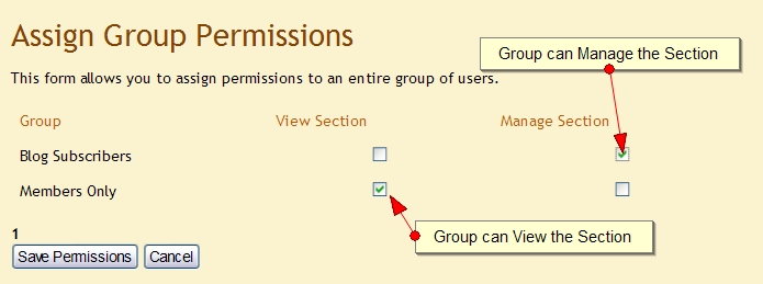 Assign Group Permissions